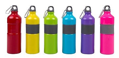 Metal Sports Water Bottle 750ML Drinks Bottle Camping Hiking Cycling with Clip