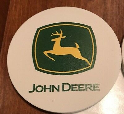 John Deere Set Of 4 Absorbent Coasters W/Cork Backing BNIOP (ships free)