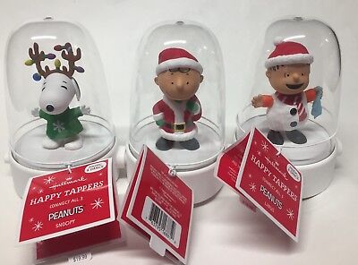 Hallmark Peanuts Tappers 2016 Set Of 3!  Charlie Brown, Linus, Snoopy! Free Ship