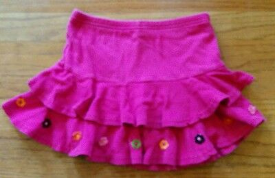 Gymboree ALL ABOUT BUTTONS  * 5 *  pink floral skort  tiered ruffles  skirt