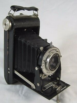 Kodak Six-20 Folding Brownie Camera, Anaston f6.3 Lens, Dakon Shutter, with Case