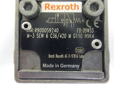 Rexroth M-3 SEW 6 C36/420 Hydraulic Directional Poppet Valve, Direct Operated