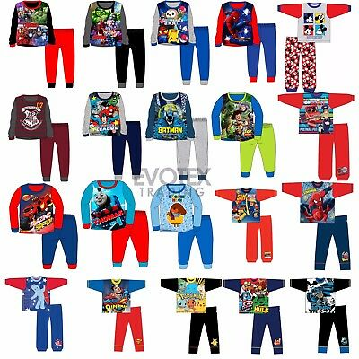 Boys/Kids Pyjamas Character/Disney Childrens Pyjama Set Age 1-12 Years