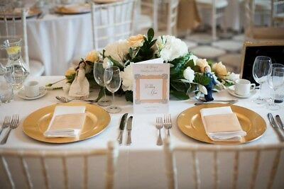 80 x Gold Wedding Centre Piece Charger Plates