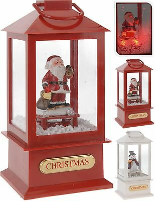 23cm Christmas Lantern with Music Lights and Snowstorm Christmas Decoration