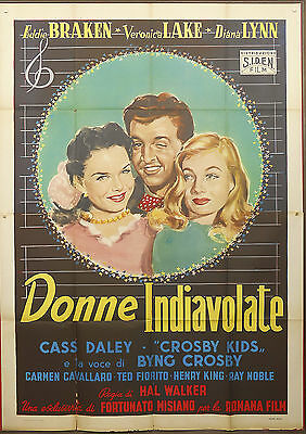 MANIFESTO, DONNE INDIAVOLATE Out of This World VERONICA LAKE, POSTER AFFICHE