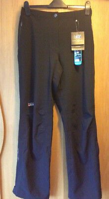 Womens Large Rukka Waterproof Golf Trousers Black Stretch Over Trousers Rrp £90