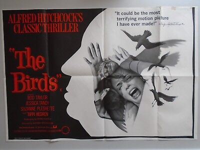 The Birds - Alfred Hitchcock - UK Quad film poster