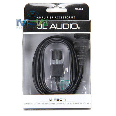 JL AUDIO M-RBC-1 WATER RESISTANT MARINE REMOTE BASS KNOB CONTROL w/ 18 FT CABLE