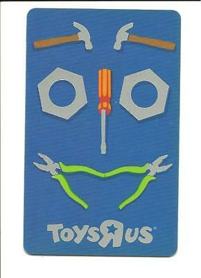 ToysRUs Tools in Shape of Face Gift Card No $ Value Collectible Toys R Us