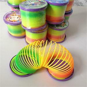Magic Plastic Slinky Rainbow Spring Colorful New Children Funny Classic Toy