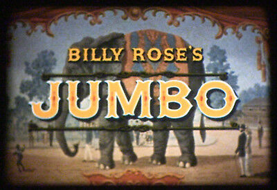 16mm Cine Feature Film BILLY ROSE'S JUMBO Doris Day Jimmy Durante LPP Filmstock