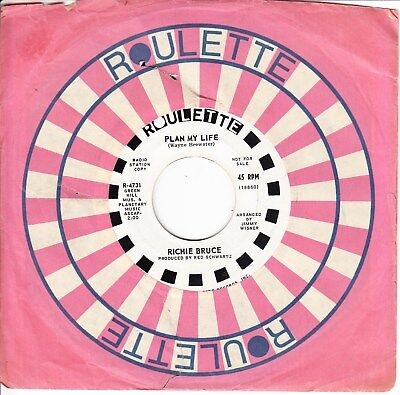 Richie Bruce 1967 Us Promo *plan My Life/ Any Girl That Wants Me* Psych  Garage