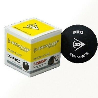 5 PACK Pro Double Dot Yellow Dunlop Squash Ball