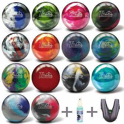 Bowling Ball Brunswick Ick T-Zone Spare & Strike 6 - 16 lbs +Cleaner +Seesaw