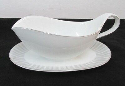 Pattern Nassau By Heinrich H And Co.gravy Boat & Attached Underplate