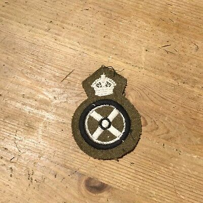 Original WW2 Period British Army Trade patch for Driver, Paste Back