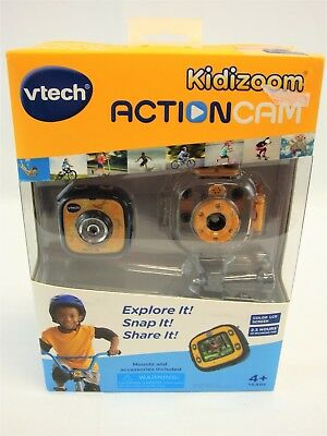 Vtech Kidizoom Yellow Action Cam Camera w All Weather Waterproof Case -Brand New