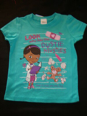 """DISNEY DOC McSTUFFINS GRAPHIC TEE SHIRT NWT """"LOOK WHO HAS THE DUSTY MUSTIES"""""""
