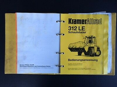 #024 Radlader Kramer 312 LE Bedienungsanleitung operation manual