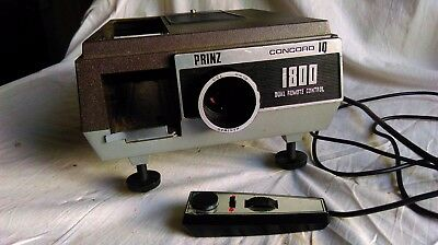Fully working Prinz Concord IQ 1800 Slide Projector  + 2 magazines