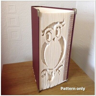 Owl Book Folding Pattern (Cut/Fold Pattern Only)