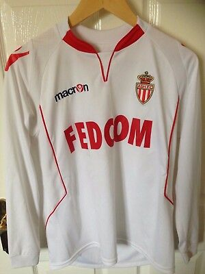 AS Monaco Macron Thrid Shirt 2010-11 Small  L/S France