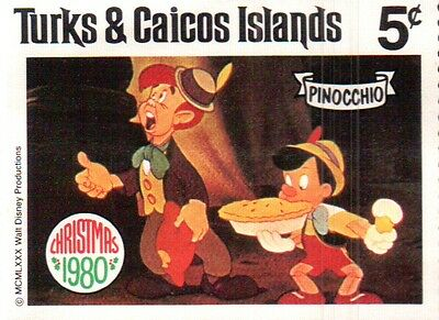 Disney World of Postage Stamps  Turks & Caicos Islands 1980