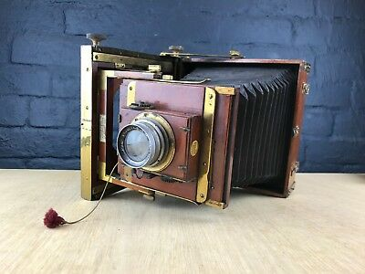 Rare Antique Cased Thornton Pickard Imperial Triple Extension Camera