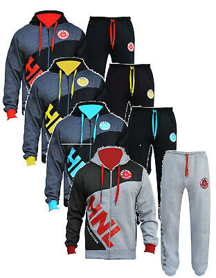 BOYS/GIRLS Designer TRACKSUIT ZIPPED TOP  BOTTOMS KIDS JOGGING SUITS AGE 7-14