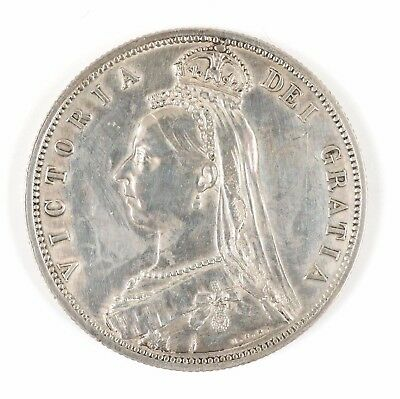 1887 Great Britain Queen Victoria Jubilee Head British Half Crown Silver Coin