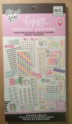 """NEW! me & my big ideas create 365 """"DATES AND HOLIDAYS"""" Value Pack Stickers"""