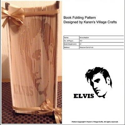 Book Folding Pattern (Shadow Cut And Fold) Elvis