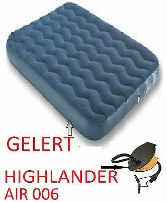 GELERT QUALITY Double Airbed Inflatable Camping AIR Mattress Air Bed And Pump