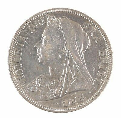 1898 Great Britain Queen Victoria Widow Head British Half Crown Silver Coin