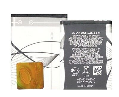 Original Nokia Bl-5B Akku Accu Battery 6020 6021 6060 6070 6080 6101 5500 5320