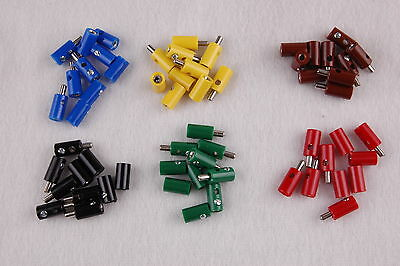 60 Pieces - CONNECTOR/Banana Sockets Round 2,6mm - Sorted NEW