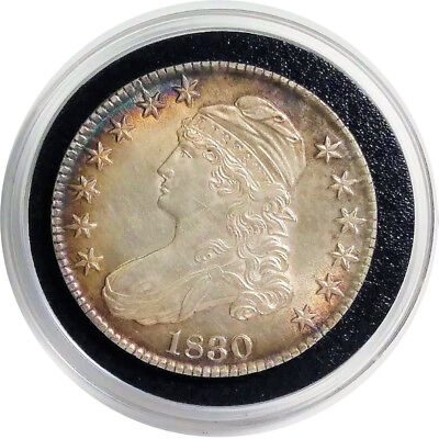 1830 50C Early U.S. Capped Bust Half Dollar - Great Hammer Strike