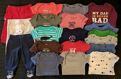 ~ x19 Lot Newborn Carter's Baby Boy Clothes Outfits ~