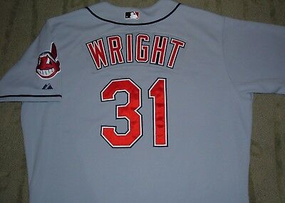 Jamey Wright Cleveland Indians Game Worn Used 2010 Jersey Mears Loa (Rockies)