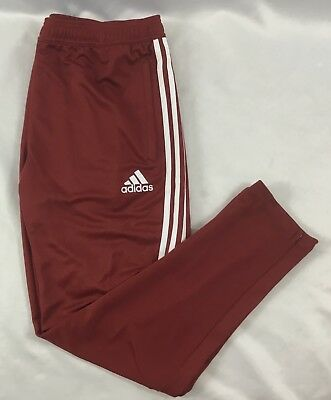 Adidas Youth Athletic TIR017 Climacool Soccer Sweat Pants Red White BS3688 YL