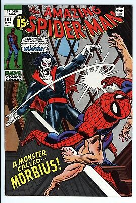 Amazing Spider-Man #101 Vol 1 Near Perfect High Grade 1st Appearance of Morbius