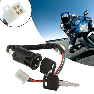 Universal Motorcycle Scooter 4 Pin Ignition Switch With Key Suitable Fr Honda S#