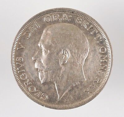 1917 Great Britain George V British Half Crown Silver Coin