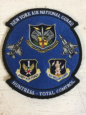 New York Air National Guard Huntress Total ContRol USAF Air Force Patch Jacket