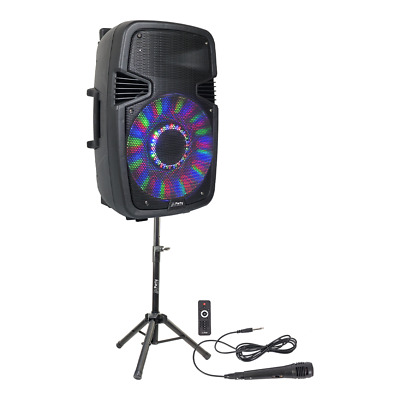 "Ibiza PARTY-15 Pack 15"" 800W Speaker Sound System Bluetooth, Remote & Mic DJ"