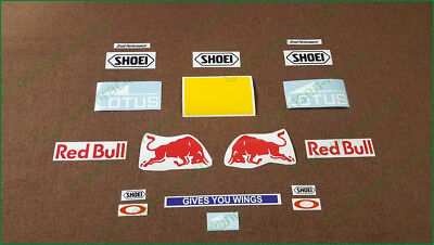 Marc Marquez Helmet Decals Stickers Complete Sponsor Race Shoei High Quality Kit