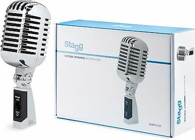 Stagg SDMP40CR Retro Vintage Microphone 50's Cardioid Dynamic Multipurpose