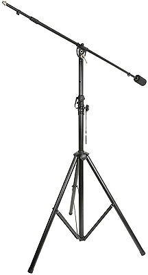 QTX Professional Live and Studio Microphone Boom Stand with Counter Weight 3.5M