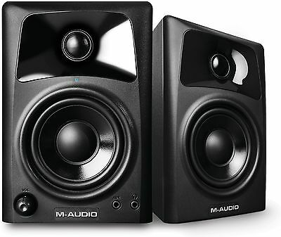 M-Audio AV32 Active Powered Studio Desktop Reference Monitor Speakers PAIR